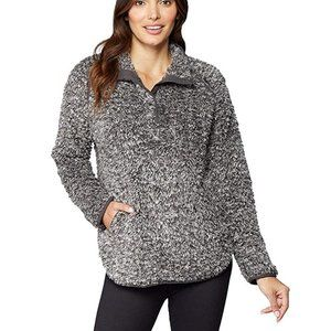 32 Degrees Womens Teddy Sherpa 1/2 Snap Pullover
